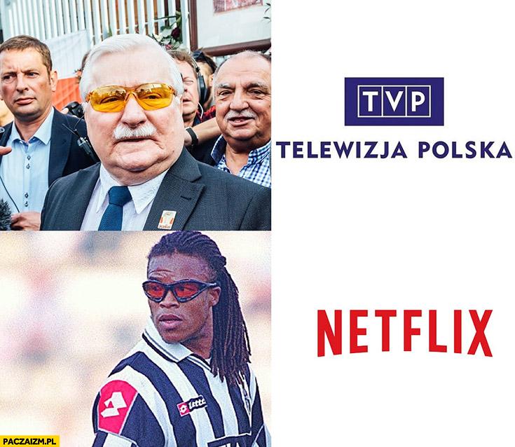 TVP vs Netflix Wałęsa w pomarańczowych okularach Edgar Piłkarz