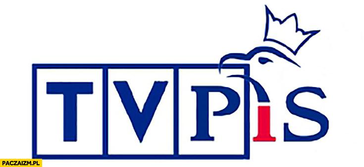 TvPiS TVP PiS logo przeróbka Prawo i Sprawiedliwość Telewizja Polska