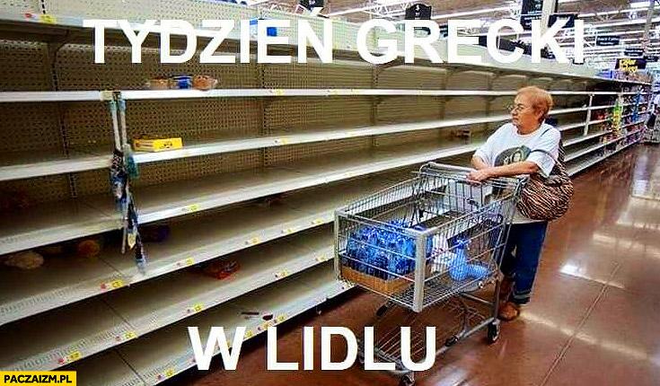 Tydzień grecki w Lidlu puste półki