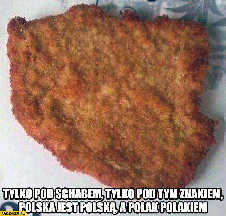 Tylko pod tym schabem, tylko pod tym znakiem Polska jest Polską a Polak Polakiem