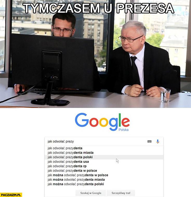 Tymczasem u Prezesa: jak odwołać prezydenta polski? Googluje sprawdza w google