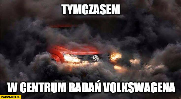 Tymczasem w centrum badań Volkswagena chmury dymu spaliny diesel