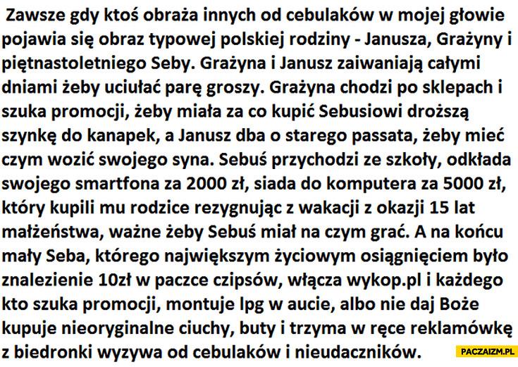 Typowa rodzina Janusz Grażyna Seba