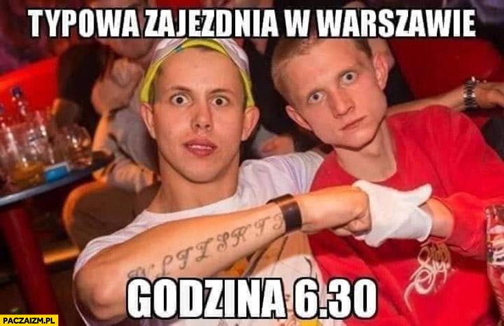 Typowa zajezdnia w Warszawie godzina 6:30 ćpanie na imprezie