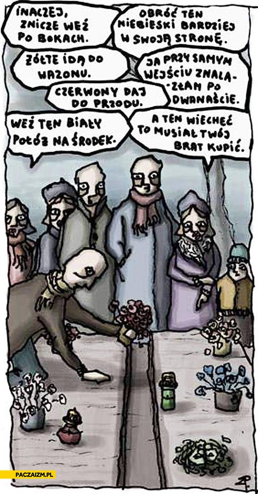 Typowi Polacy na grobach