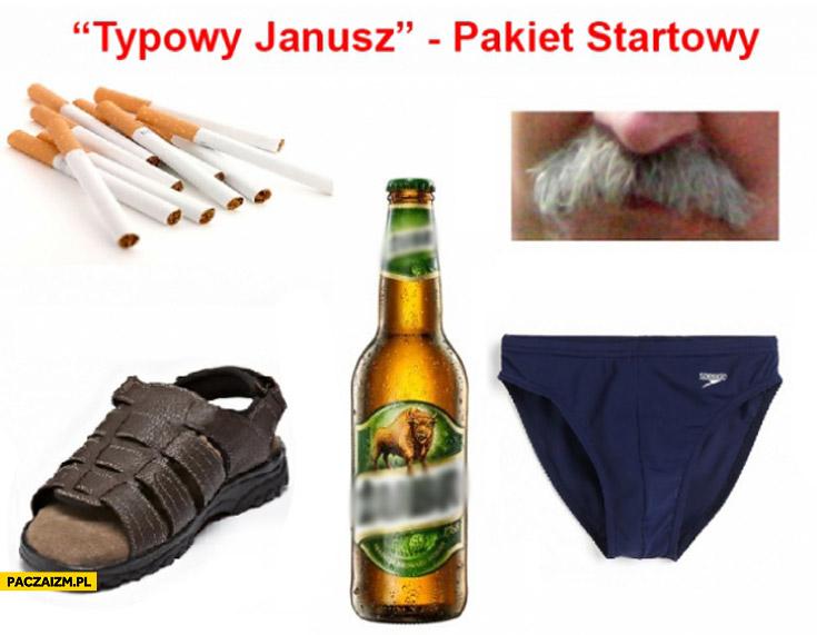 Typowy Janusz pakiet startowy