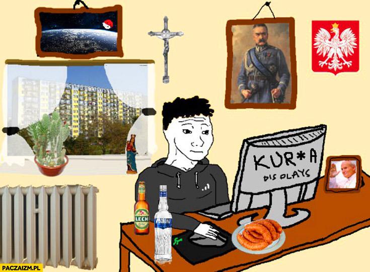Typowy Polak mem rysunek