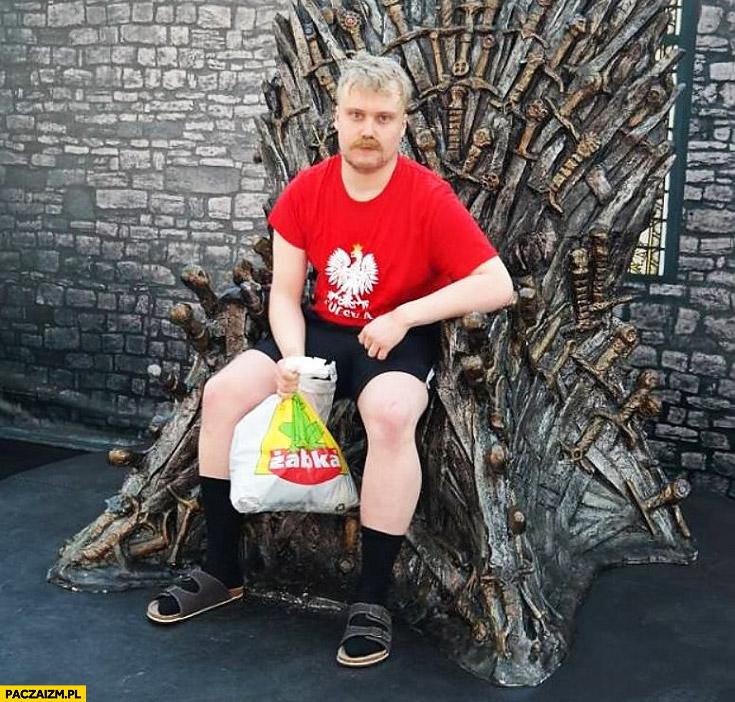 Typowy polak na tronie gra o tron