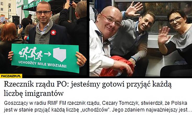 Uchodźcy mile widziani Michał Szczerba rzecznik Platformy: jesteśmy gotowi przyjąć każdą liczbę imigrantów