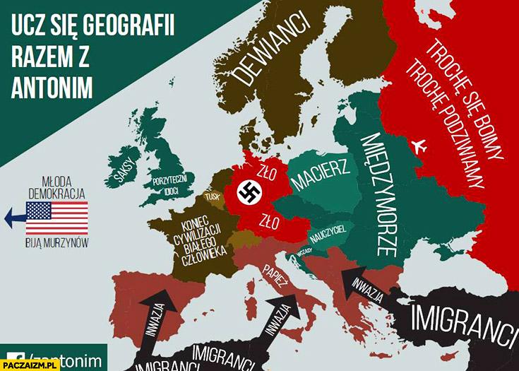 Ucz się geografii z Antonim Macierewiczem: dewianci, macierz, międzymorze, imigranci, zło pożyteczni idioci