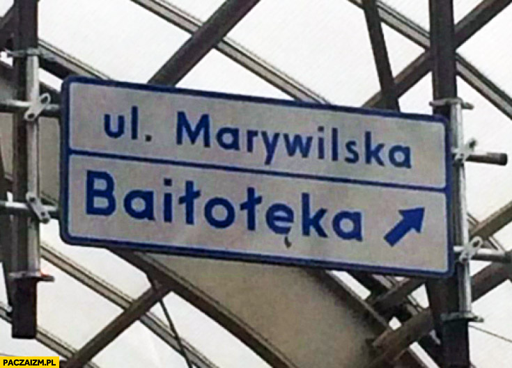 Ul. Marywilska Baiłołęka tablica Warszawa fail