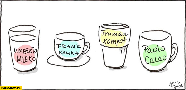 Umberto Mleko, Franz Kawka, Truman Kompot, Paolo Cacao