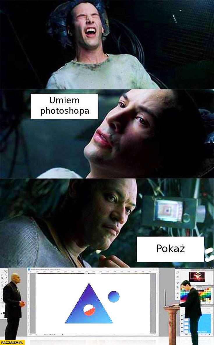 Umiem Photoshopa, pokaż logo polskiej agencji kosmicznej fail Matrix