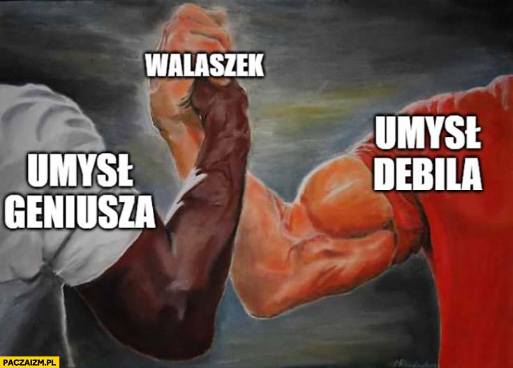 Umysł geniusza, umysł debila Walaszek łączy oba