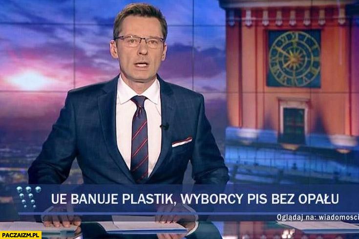 Unia banuje plastik, wyborcy PiS bez opału pasek Wiadomości TVP