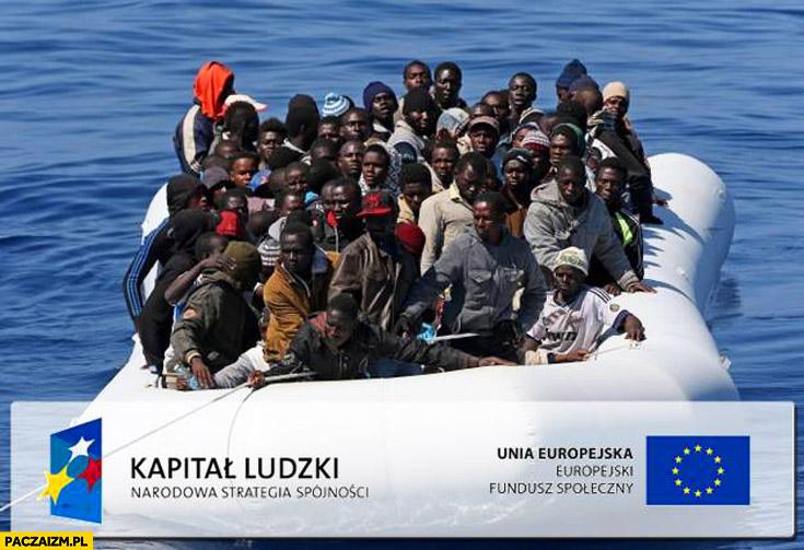 Unia Europejska kapitał ludzki łódka z imigrantami