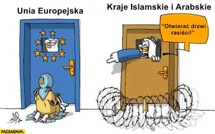 Unia Europejska kraje Islamskie i Arabskie otwierać drzwi rasiści