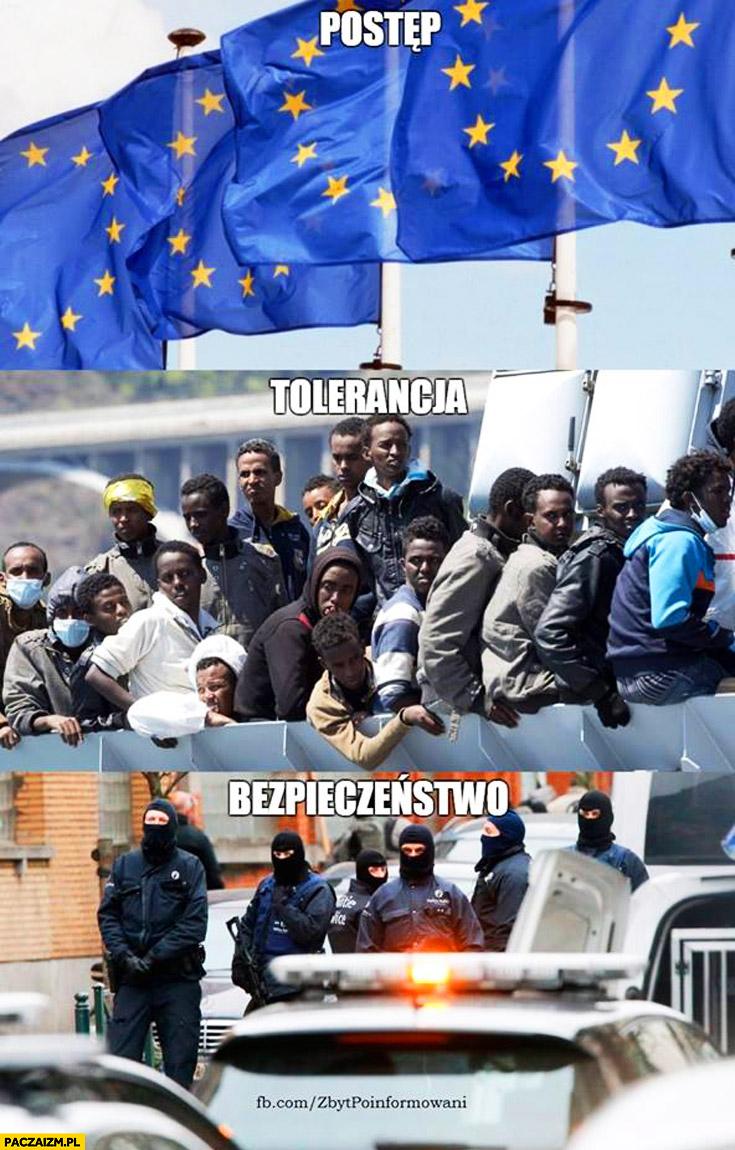 Unia Europejska – postęp, tolerancja, bezpieczeństwo. imigranci zamachy