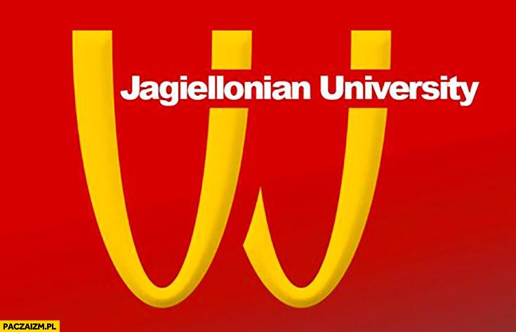 Uniwersytet Jagielloński logo przeróbka McDonald's