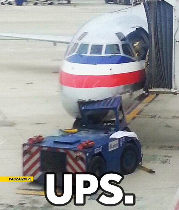 Ups wjechał w samolot