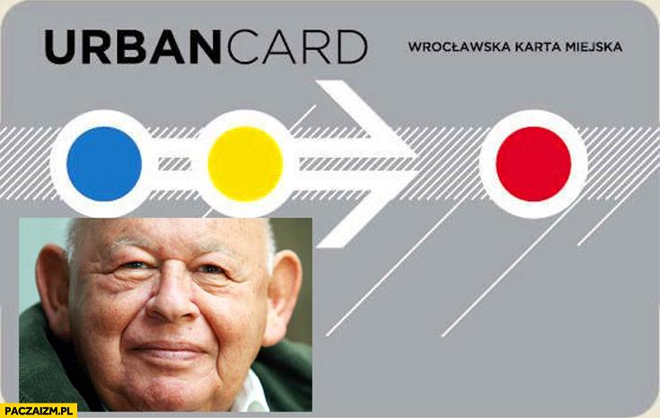 Urban card wrocławska karta miejska Jerzy Urban
