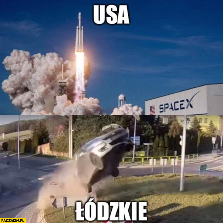 USA NASA SpaceX łódzkie Rąbień Suzuki Swift