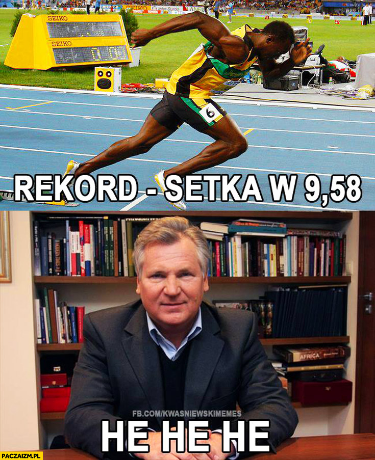 Usain Bolt rekord setka w 9,58 Kwaśniewski he he he
