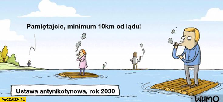 Ustawa antynikotynowa rok 2030: pamiętajcie można palić minimum 10km od lądu