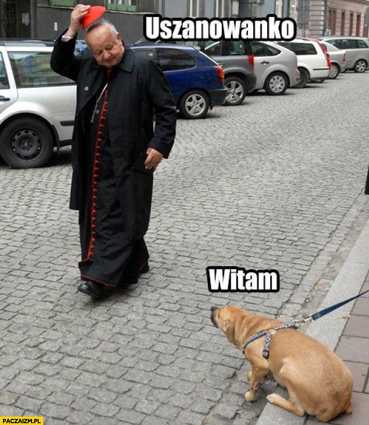 Uszanowanko witam pies biskup