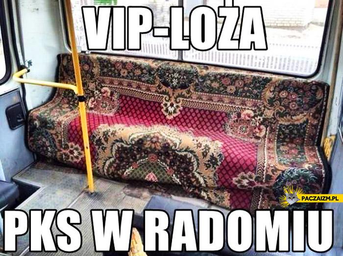 VIP loża PKS w Radomiu