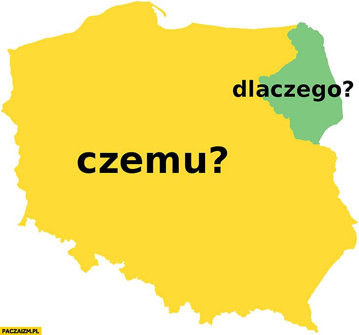 W całej Polsce czemu? Na Podlasiu dlaczego? Mapa polski
