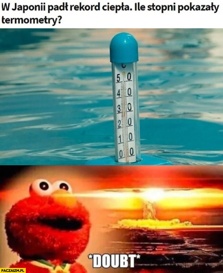 W Japonii padł rekord ciepła doubt bomba atomowa było cieplej