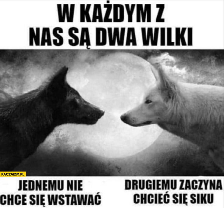 W każdym z nas są dwa wilki: jednemu nie chce się wstawać, drugiemu zaczyna chcieć się siku