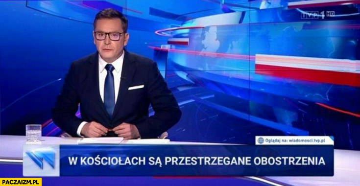W kościołach są przestrzegane obostrzenia pasek Wiadomości TVP