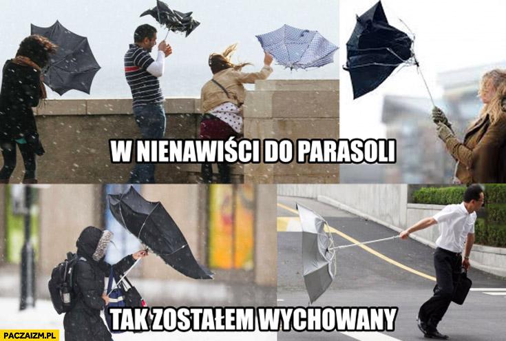 W nienawiści do parasoli tak zostałem wychowany