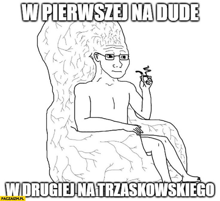 W pierwszej turze na Dudę w drugiej na Trzaskowskiego wielki mózg