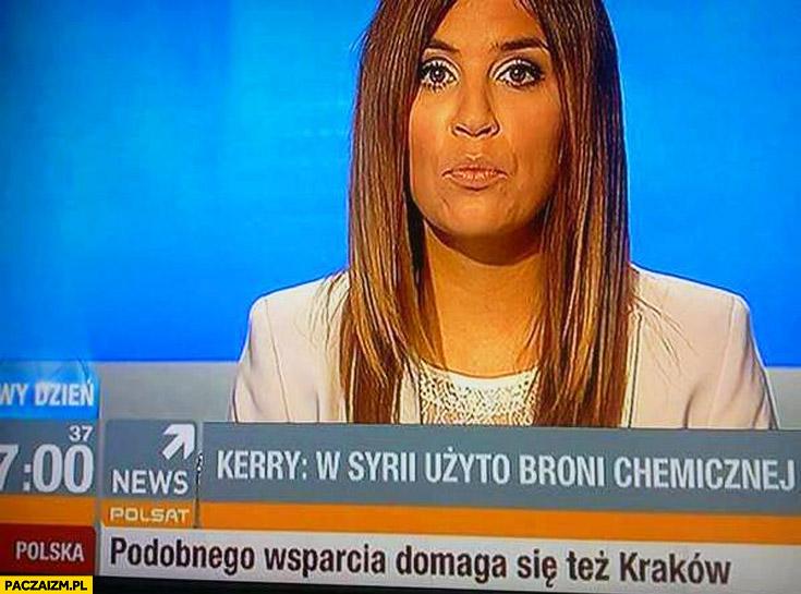 W Syrii użyto broni chemicznej podobnego wsparcia domaga się też Kraków