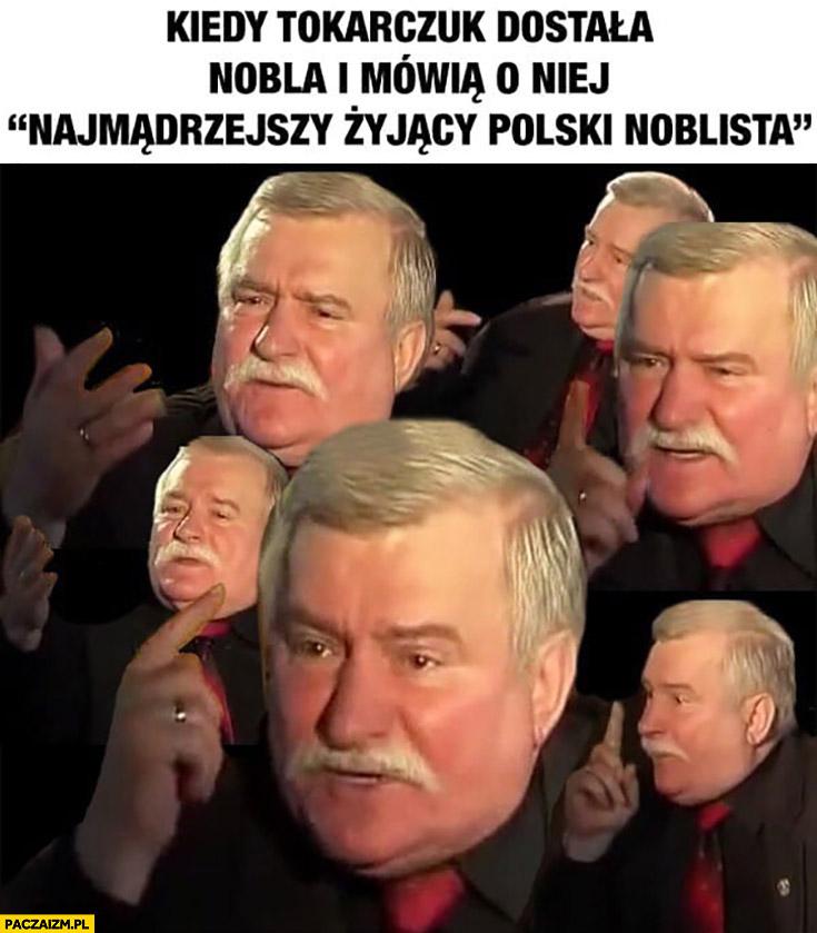 Wałęsa kiedy Tokarczuk dostała nobla i mówią o niej najmądrzejszy polski noblista