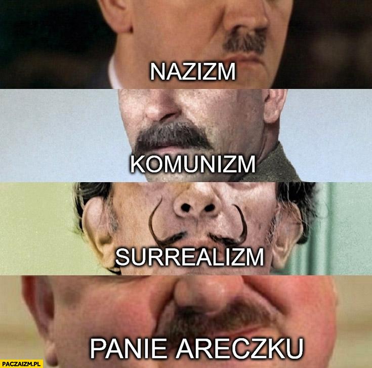 Wąsy nazizm, komunizm, surrealizm, panie Areczku Janusz alfa
