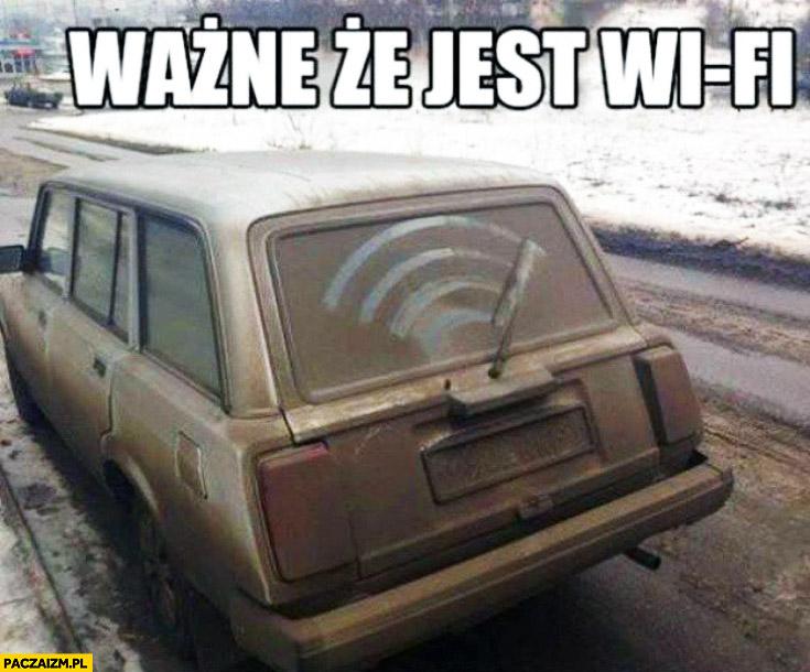 Ważne że jest Wi-Fi stary samochód wycieraczka
