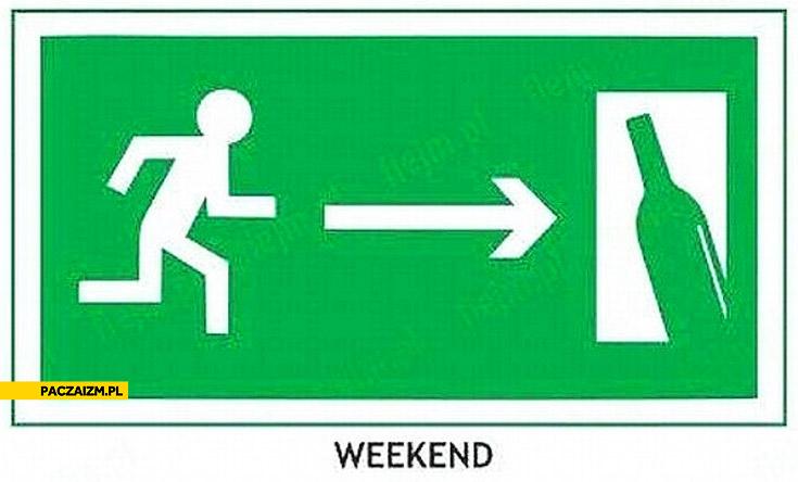 Weekend droga ucieczki znak