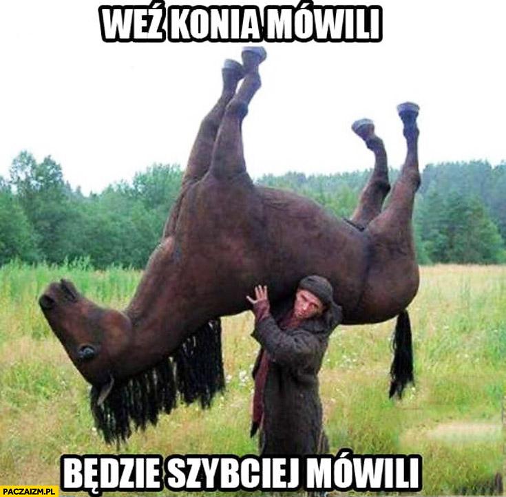 Weź konia mówili będzie szybciej mówili