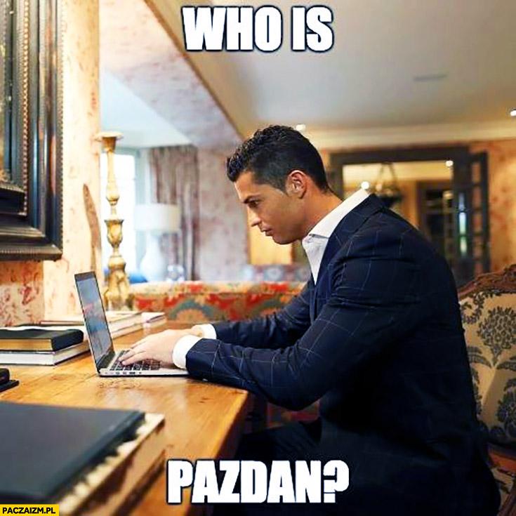 Who is Pazdan? Cristiano Ronaldo sprawdza w internecie