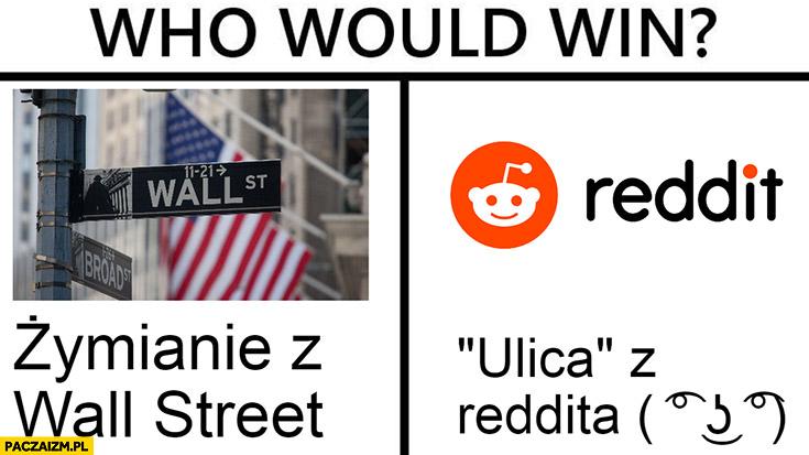 Who would win: Żymianie z wall street czy ulica z Reddita?
