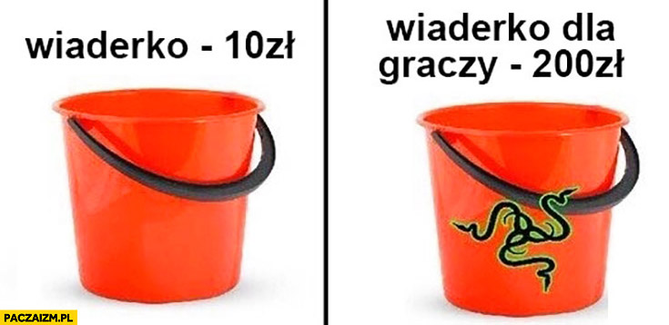 Wiaderko 10 zł, wiaderko dla graczy 200 zł