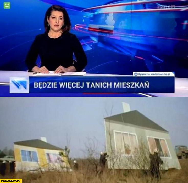 Wiadomości TVP będzie więcej tanich mieszkań atrapy makiety prowizorka