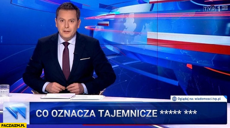 Wiadomości TVP co oznacza tajemnicze Jechać PiS