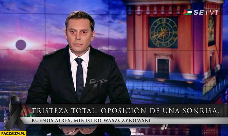 Wiadomosci TVP po odejściu Waszczykowskiego San Escobar Buenos Aires ministro Waszczykowski