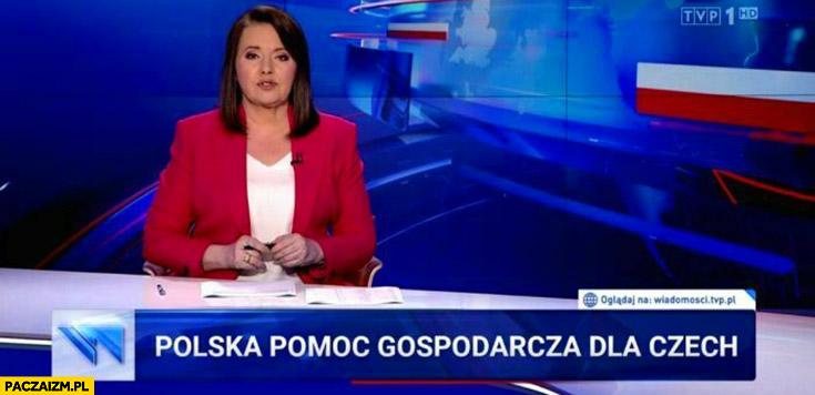 Wiadomości TVP Polska pomoc gospodarcza dla Czech 500 tysiecy euro dziennie