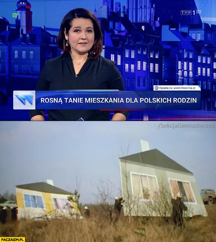 Wiadomości TVP rosną tanie mieszkania dla polskich rodzin z kartonu tektury Sekcja Gimnastyczna